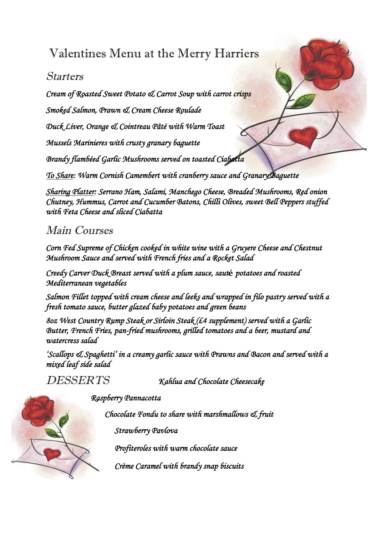 Valentines Merry Harriers Westcott